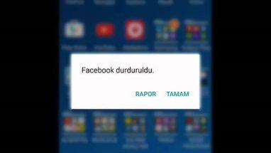 Android Facebook Durduruldu Hatası ve Çözümü